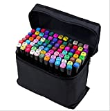 80 Colors Marker Pen Artist Dual Head Sketch Oily Markers Set for School Drawing Sketch (Universal 80 colors / sets)
