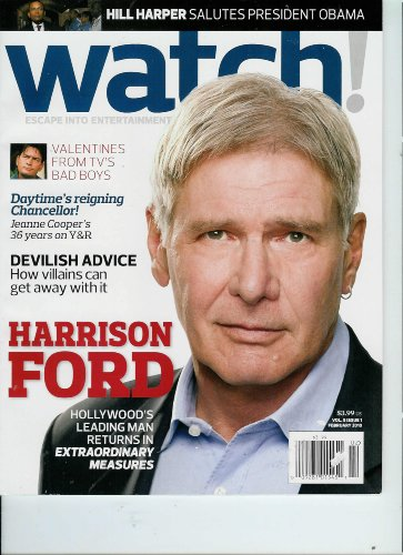 CBS Watch Magazine February 2010 Harrison Ford & Extraordinary Measures * Valentines From TV's Bad Boys * Devilish Advice * Archie Panjabi * Hill Harper