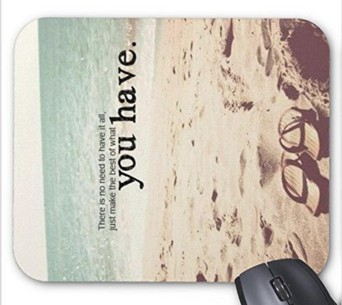 (Salt Water Heals Everything Beach Quote Mouse pad 9.84 x 11.8 inch)