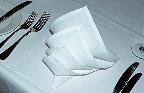 Atlas 200-Pack Napkins - White, Professional Grade, 100% Cotton With Momie Weave, Exceptional Absorption. Dinner Napkins Preferred by Professional Chefs 21x21'' Eco-Friendly