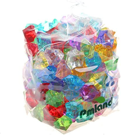 picture of PMLAND Acrylic Jewels Gems, Bulk 1 Pound per Bag, Approximately