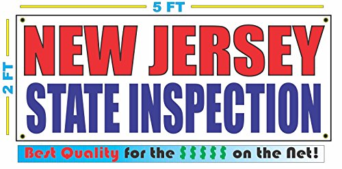 NEW JERSEY STATE INSPECTION All Weather Full Color Banner - New Stores Outlets Jersey