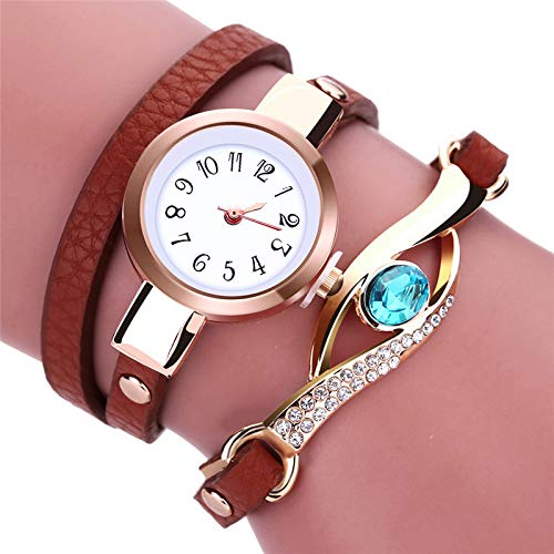 Women Watches Eye Gemstone Luxury Watches Women Gold Bracelet Watch Female Quartz Wristwatches Reloj Mujer Brown