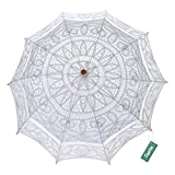 TopTie Lace Parasol Wedding Umbrella Bridal Shower Party Photo Prop Decoration WHITE-120PCS