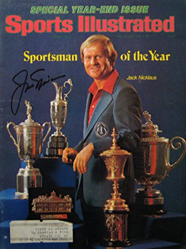 Nicklaus, Jack 12/25/78-1/1/79 autographed magazine by SI Kings