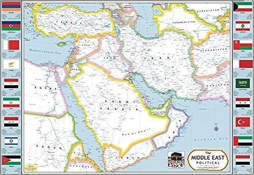 Buy Middle East Map Saudi Arabia Yemen Oman Iran Iraq Syria