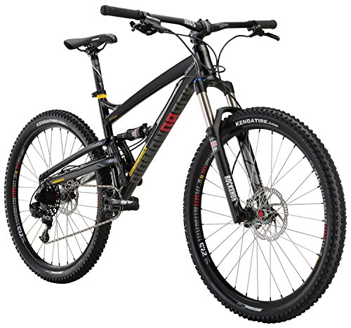 Diamondback Bicycles Atroz Comp Full Suspension Mountain Bike, Gloss Black, 16'/Small