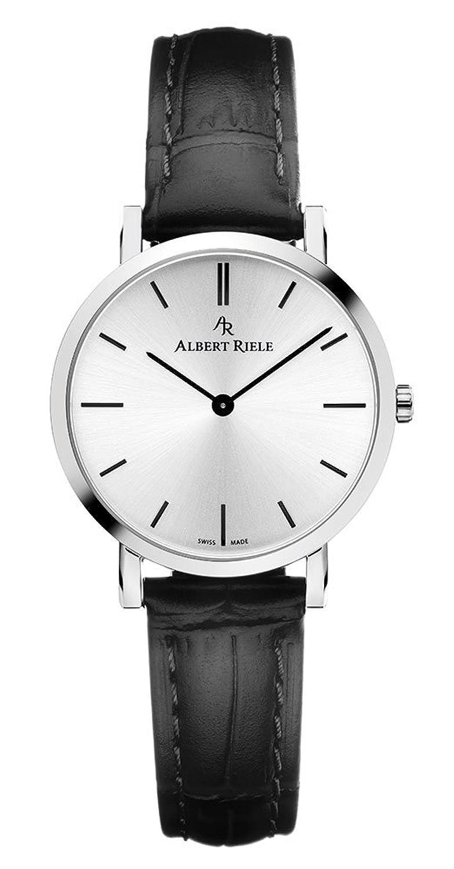 Albert Riele Damen Armbanduhr CONCERTO Analog Quarz schwarzes Lederarmband 018LQ19-SS33I-LB