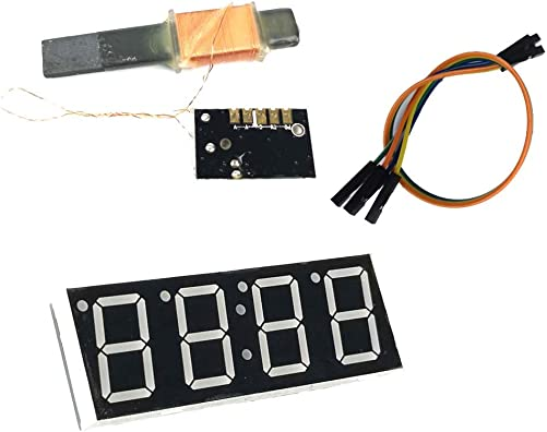 LS WWVB 60kHz NIST Radio Controlled Clock, 30dB High Gain Atomic Clock Receiver IC, 100mm Antenna 1.2 to 5V Operating Voltage for Radio Radio Alarm Clock Timer Kit Set