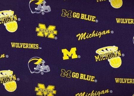 University of Michigan - 100% Cotton, 44