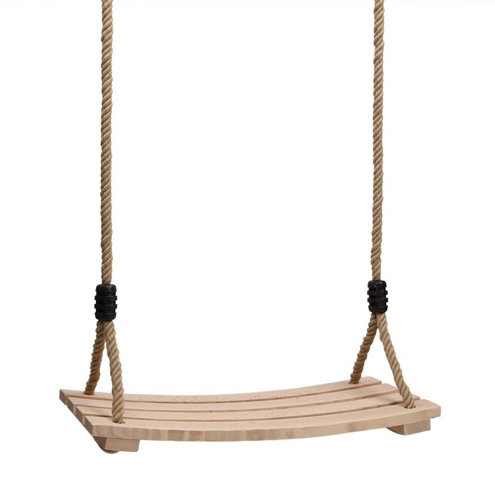 Bluelover Madera Colgando Cuerda Swing Seat Niño Adulto Patio Trasero Niños Jugar