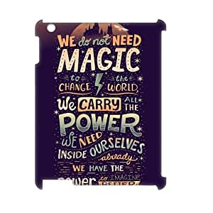 YUAHS(TM) DIY 3D Phone Case for Ipad 2,3,4 with Harry Potter quote YAS928322