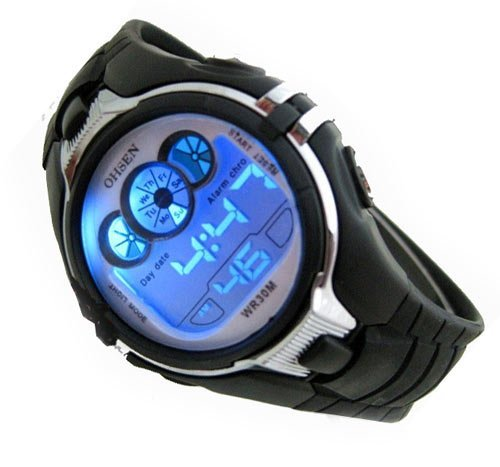 Digital Boys Sports Watch Date Alarm Stopwatch with 6 Color - Reading Stores Mall