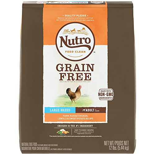 Cheap Nutro Grain Free Large Breed Adult Farm-Raised Chicken, Lentils And Sweet Potato Dry Dog Food 12 Pounds (Discontinued By Manufacturer)