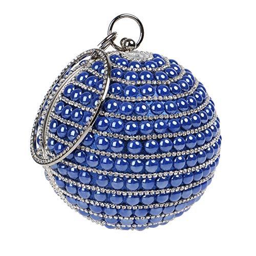 Chaîne Sac pour Maquillage Main Soirée Sac Clutch Fête Blue Bandouliere Femmes Bourse Mariage à Bal Pochette 0anUv