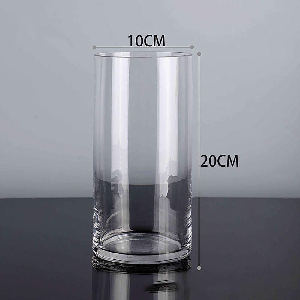 Dartington Crystal Vase /étroit et Haut /évas/é pour Vase-Transparent