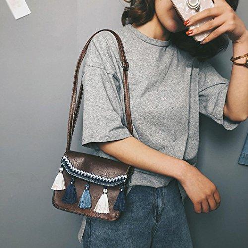 Borse B con Spalla Bag Donna Borse a Beauty Tracolla Borsa Donna Borse Messenger Bag a Fiocco Luo Vintage Crossbody xtwxUAzqWC