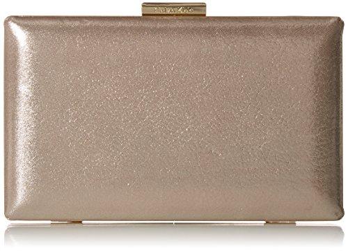 Calvin Klein Metallic Suede Box Clutch, mica
