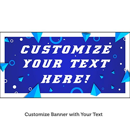 HALF PRICE BANNERS | Custom Business Vinyl Banner-Mesh Wind Resistant 2X4 Foot-Geometric | Includes Ball Bungees & Zip Ties|Easy Hang Sign-Made in USA