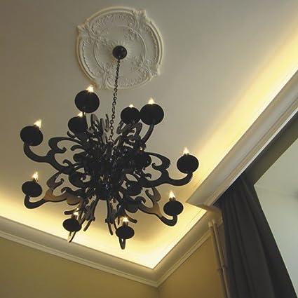 Rosetón Florón Elemento decorativo de estuco Orac Decor R73 LUXXUS para techo o pared de poliuretano 70 cm diámetro: Amazon.es: Bricolaje y herramientas