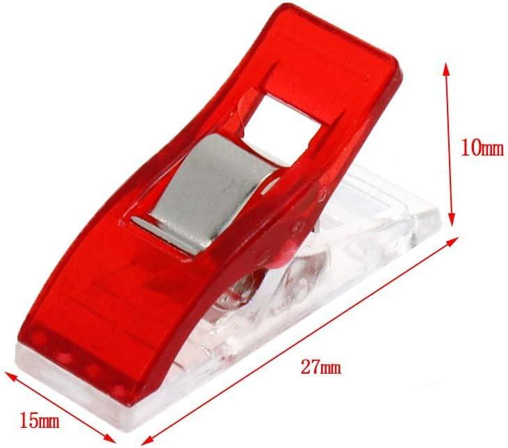 Bitray 50 PCS Medium Sewing Clips Mixed Color Box-Packed Bider Clips for Clothes