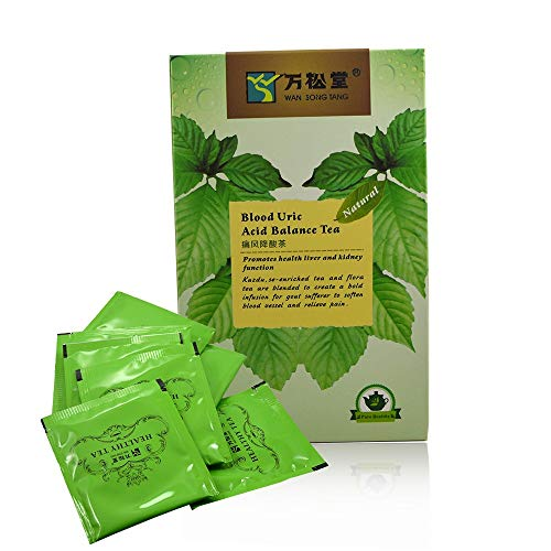 Uric Acid Support Remedy - Uric Acid Herbal Balance Tea - Authentic Chinese Tea, Se enhanced, Efficient Gout Remedy, Best for your Kidney and Joints