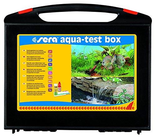 Vorschaubild sera aqua-test box (+Cu), Koffer, Wasser testen für Fortgeschrittene pH, GH, KH, NH3/NH4, NO2,NO3, PO4, Fe, Cu - schnell, genau, professionell