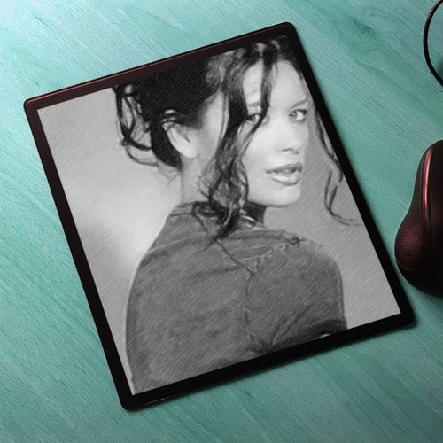 Seasons CATHERINE ZETA JONES - Original Art Mouse Mat #js005