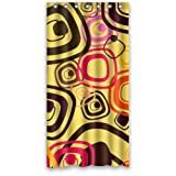 Modern Abstract Colorful Cute Diamnods Pattern In Yellow Shower Curtain 36