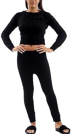 FASHIONGYAL UK Q38 de Ochos Ropa Cómoda Set Camiseta & Leggings Co ...
