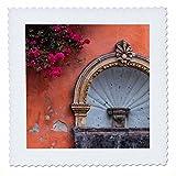 3dRose Danita Delimont - Architecture - Mexico, San Miguel de Allende, Street fountain built into a wall. - 22x22 inch quilt square (qs_258505_9)