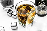 Whiskey Stones Scotch & Bourbon Chilling Granite Rocks By Luxuries - For Iceless Chilling Of Hard Liquor – Do Not Dilute Flavor Or Spoil Aroma, Turning Your Drink Watery – Reusable – The Perfect Gift