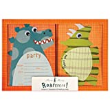 Meri Meri Party Invitations/Thank You Notes, Dinosaur