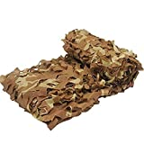 Desert Camo Netting,13.1ft x 16.4ft Military Desert Camo Net Lightweight Tough Camouflage Netting for Hunting Hide Shooting Camping Sunshade Home/Party Decoration