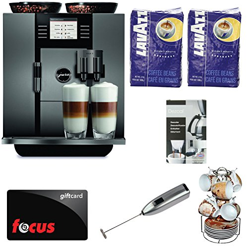JURA GIGA 5 (13623) Cappuccino and Latte Macchiato System with Café Moulu 13-Pc Espresso Set and Deluxe Accessory Bundle plus $100 Gift Card