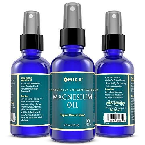Aceite de magnesio en spray (118 ml) - Cloruro de magnesio puro y altamente potente procedente de minerales del océano antiguo en el interior (1): ...