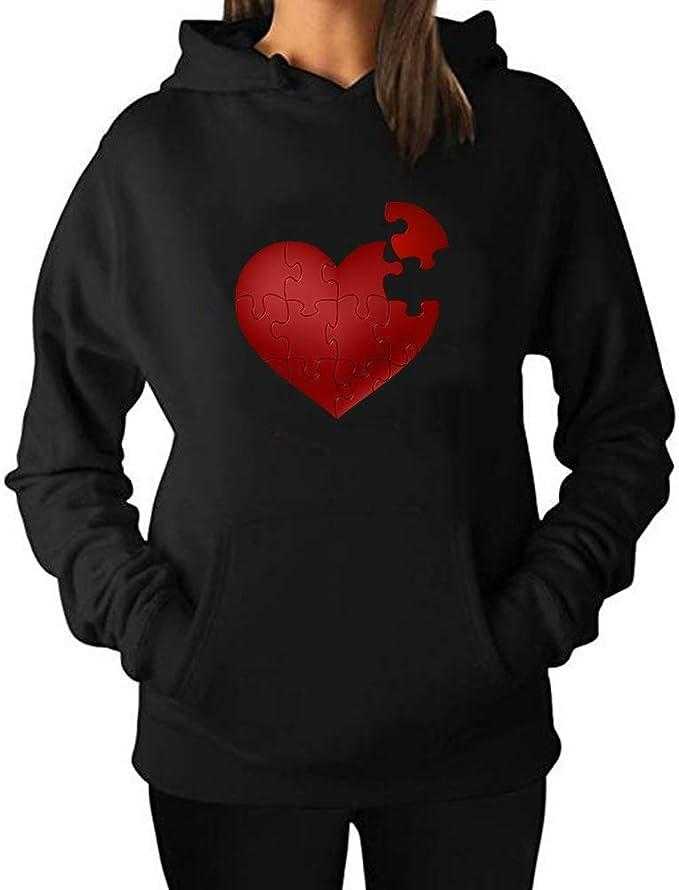 chenjing custom Femmes Hoodies Sweat à Capuche Love Heart