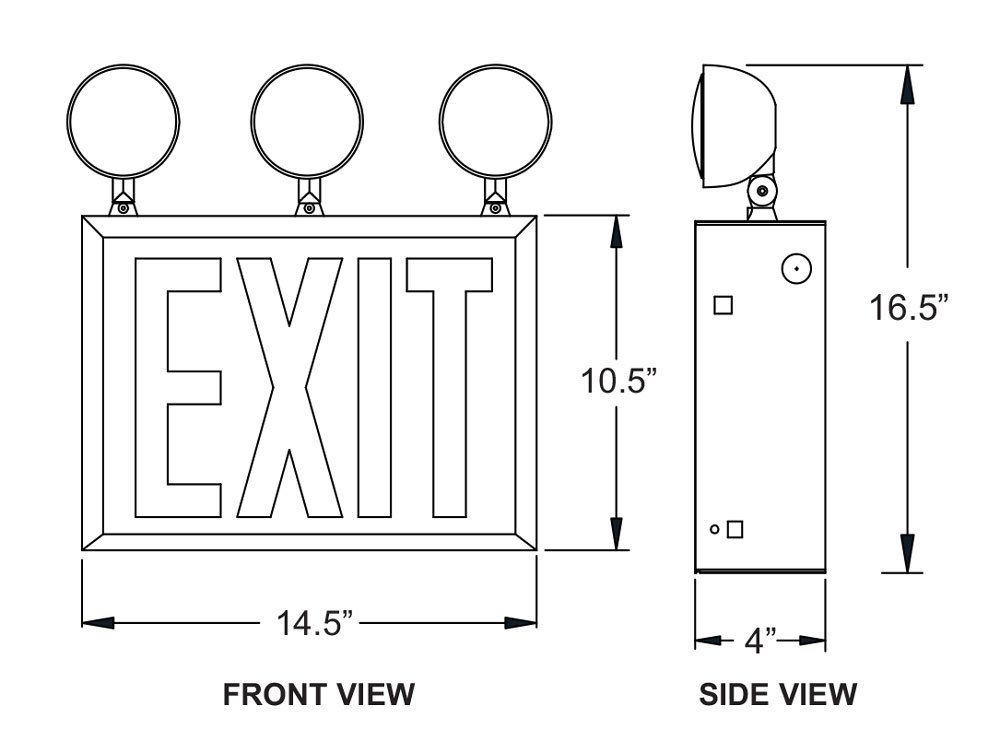 LED New York City Exit Sign Combo