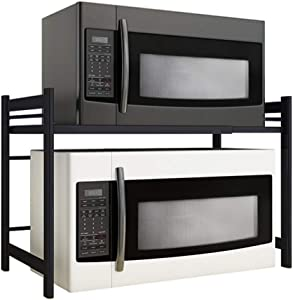 Standing Shelf Units Storage Microwave Oven Rack Household Oven Rack Kitchen Rack Desktop Double-Layer Two-Layer Multifunctional Integrated Storage Rack Scalable Design Durable Racks