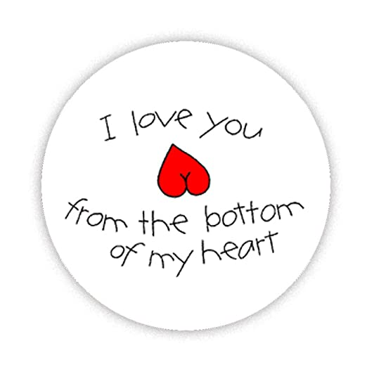 I Love You de la parte inferior de mi corazón impreso imán para ...