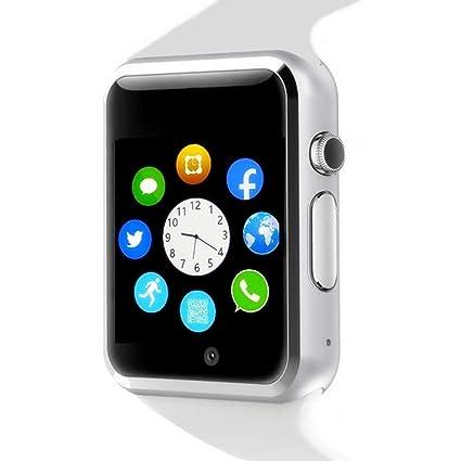 WJPILIS Smart Watch Touchscreen Bluetooth Smartwatch Wrist Watch Sports Fitness Tracker with SIM SD Card Slot Camera Pedometer Compatible iPhone iOS ...