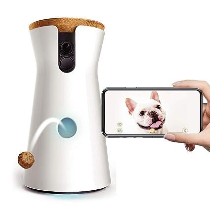 AA pet camera Cámara para Perros: Lanzamiento de golosinas, Cámara para Mascotas WiFi HD