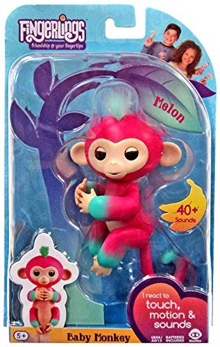 Fingerlings - Interactive Baby Monkey - Melon (Pink to Green)