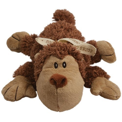 KONG Cozie Spunky the Monkey, Medium Dog Toy, Brown (Dog Toys Monkey)