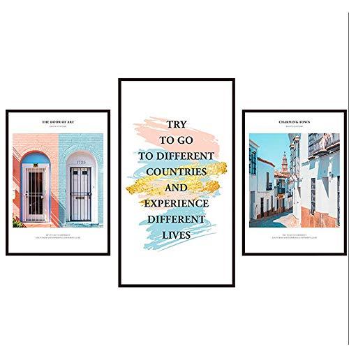 Jcnfa-pegatina de pared Cuadros Decorativos Autoadhesivo Salón Dormitorio Fondo De Pantalla, Simple (Color : A, Tamaño : 88...