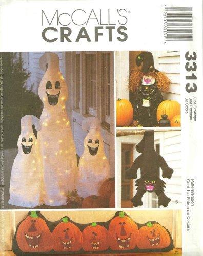 McCalls Crafts Pattern 3313 Halloween Decorations