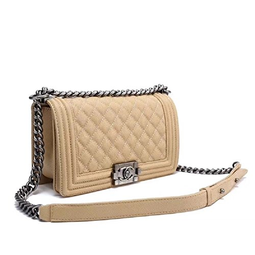 Simple-Chanel Women's Rhombus Chain Inclined Shoulder (Chanel Ladys Bag)