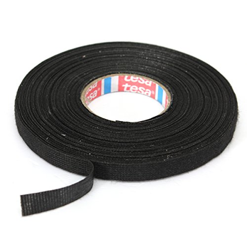 C-FUNN Car Wiring Loom Harness Adhesive Cloth Fabric Tape Cable Loom 9Mm X 25M Black: