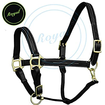 Royal Six Fancy Padded Halter./ Vegetable Tanned Leather./ Brass Buckles.