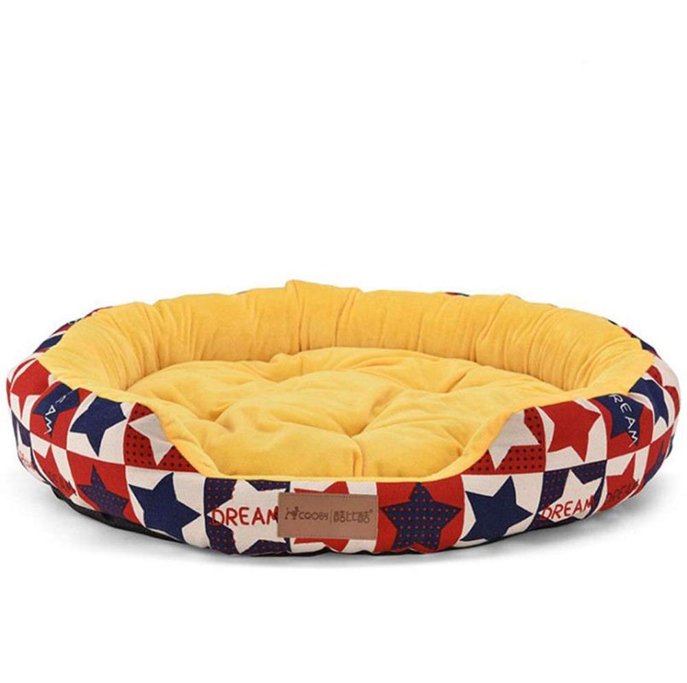 B Medium B Medium MHO Round Rectangle Pet Dog Bed Lounge Sofa Dog Bed Orthopedic Pet Mattress For Dogs & Cats Pet Bolster Bed Cat Beds Various Sizes,B,M